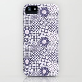 Spanish Tiles of the Alhambra - Violets iPhone Case
