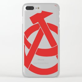 Anarcho-Communist Red Clear iPhone Case