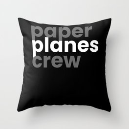 Paperplanes Crew Origami Throw Pillow