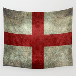 Flag of England (St. George's Cross) Vintage retro style Wall Tapestry