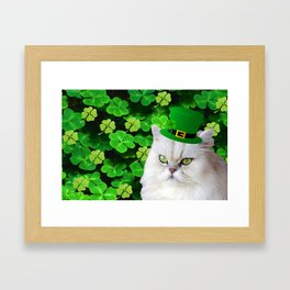Patricks Irish Cat Framed Art Print