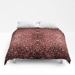 Beautiful Glam Marsala Brown-Red Glitter sparkles Comforters