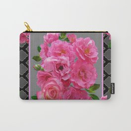 VICTORIAN STYLE CLUSTERED PINK ROSES ART Carry-All Pouch