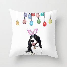 Happy Easter - Springer Spaniel Throw Pillow