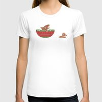 jaws T-shirts featuring Gingerbread Jaws by Teo Zirinis