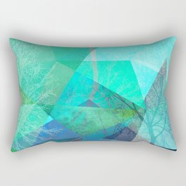 P19-B Trees and Triangles Rectangular Pillow