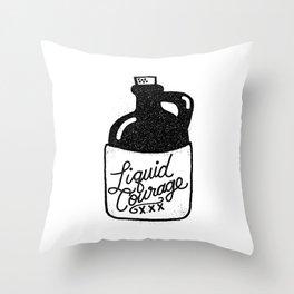 Liquid Courage Throw Pillow