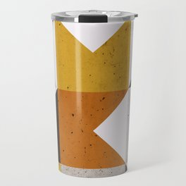 Mid Century Geometric 21 Travel Mug