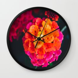 Color Pop Flower Wall Clock