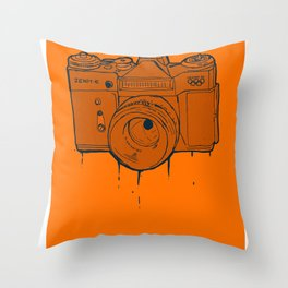 Zenit-E Throw Pillow