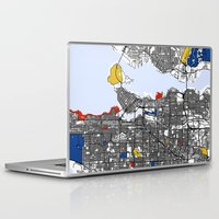 vancouver Laptop & iPad Skins featuring Vancouver by Mondrian Maps