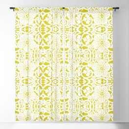 Not Your Nana's Brocade: Mustard Blackout Curtain