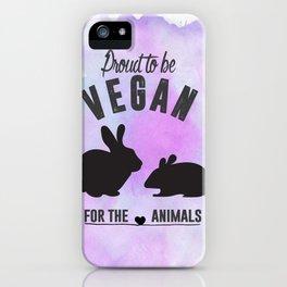 Proud to be Vegan iPhone Case