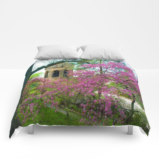 Bell Tower in Spring Comforters