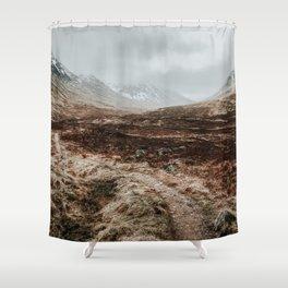 Scottish Highlands Art Print | Nature Photography | Scotland Glen Coe Shower Curtain