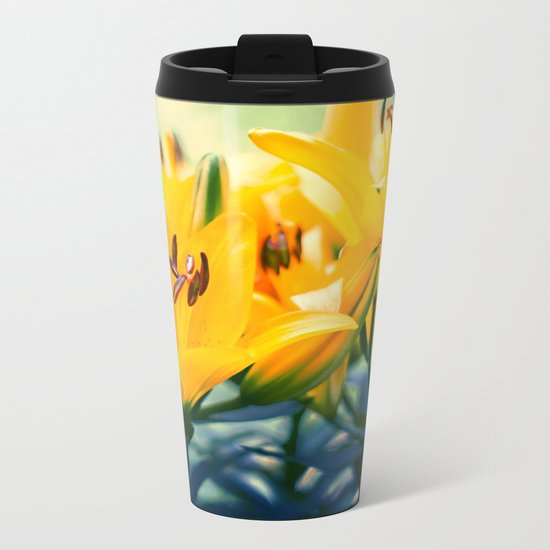 Summer Lilies II Metal Travel Mug