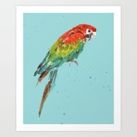 central perk Art Prints featuring PARROT PERK  by eastwitching