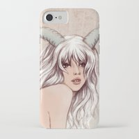 aries iPhone & iPod Cases featuring Aries by Vivian Lau