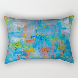 Colorful Abstract Wall Art, Vibrant colors, Contemporary home decor Rectangular Pillow
