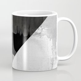 Marble black and white texture illustration art print gray scale Coffee Mug