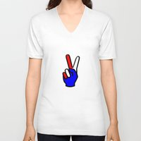 patriotic V-neck T-shirts featuring Patriotic by gbcimages