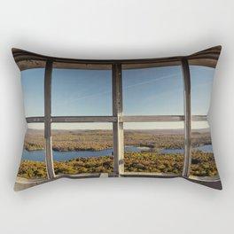 through the firetower window Rectangular Pillow