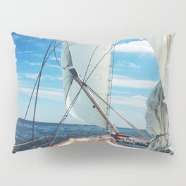 Sweet Sailing - Sailboat on the Chesapeake Bay in Annapolis, Maryland Pillow Sham