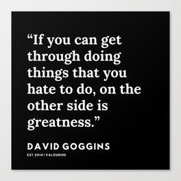 10    David Goggins Quotes   191105 Canvas Print