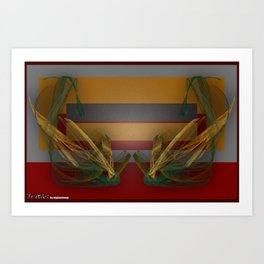 Frakblot Clack Art Print