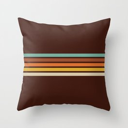 Wanderlust Retro Stripes Throw Pillow