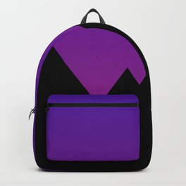 Mountains at Sunset (Blue & Magenta) Backpack