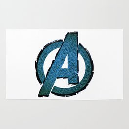 UNREAL PARTY 2012 AVENGERS LOGO FLYERS Rug