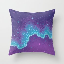 Purple Aura Galaxy Throw Pillow