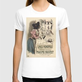 Vintage French linen advertising T-shirt