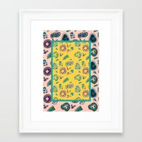 geode Framed Art Prints featuring Geode by daintyish