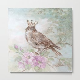 French Crown and Feathers Metal Print