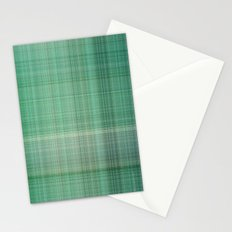 Green Checked Stationery Cards