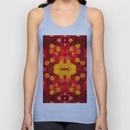 Red yellow sparkles and circles bokeh abstract Unisex Tank Top