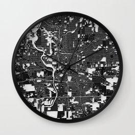 Indianapolis – Abstract Map Wall Clock