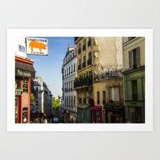 Montmartre series 7 Art Print