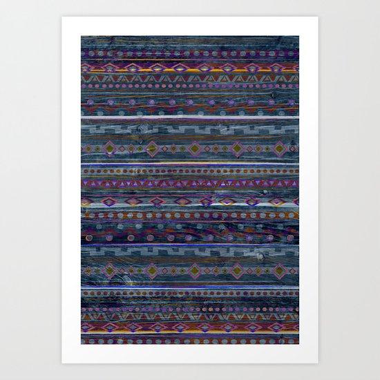 VINTAGE TRIBAL PATTERN Art Print
