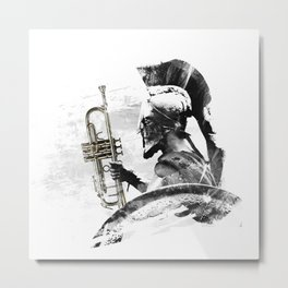 Trumpet Warrior Metal Print