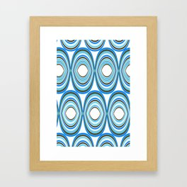 RETRO CIRCLES Framed Art Print