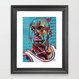 All Bets On Me Framed Art Print