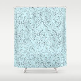 Silver Twinkle Shower Curtain