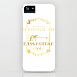 Never Underestimate An Old Guy With A Bass Guitar iPhone Case