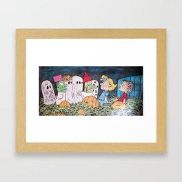 The Great Pumpkin - Chalk Piece Framed Art Print