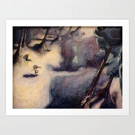 Fear Series - Scene 2: Running From Fear Art Print