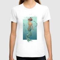 mermaid T-shirts featuring Mermaid by Calavera