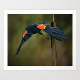 Polygon Redwing Blackbird Art Print